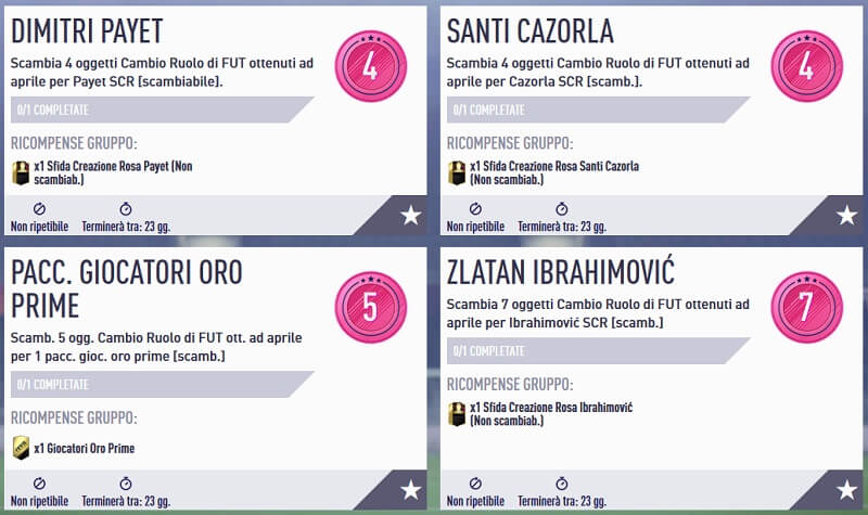 Scambia giocatore in FUT, Ibrahimovic, Payet e Cazorla come premi