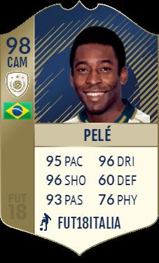 Pelè Icona PRIME su FIFA 18 - Overall 98