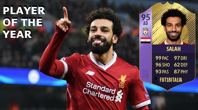 Salah potrebbe essere il Player of the Year in Premier League per la stagione 2017/2018