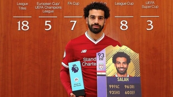 Salah player of the month di marzo in BPL
