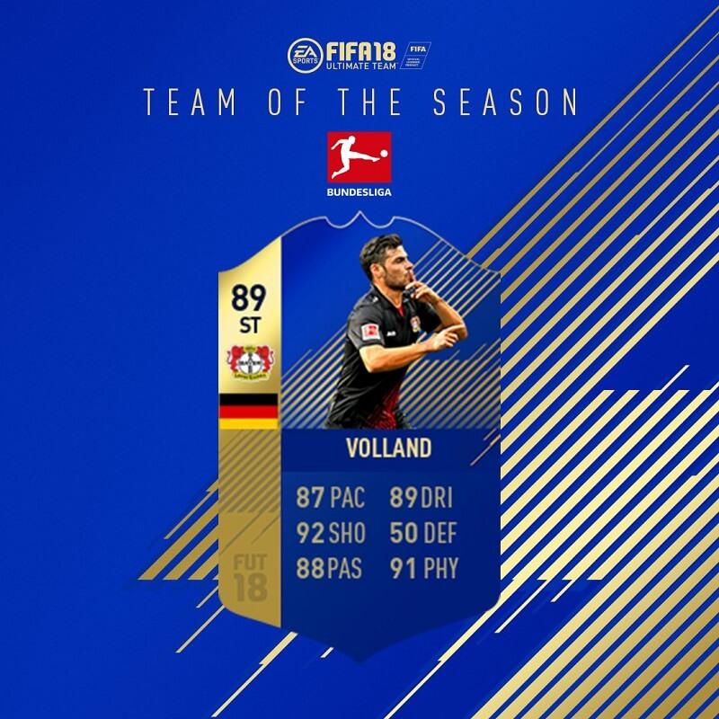 Volland TOTS premio per la vittoria del torneo giornaliero su FUT