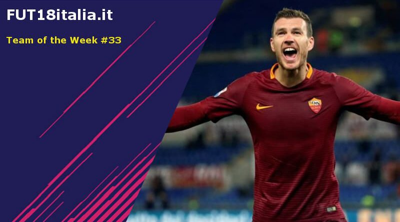 Dzeko, Cuadrado e Simeone nel Team of the Week 33