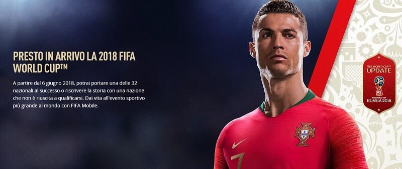 FIFA Mobile, aggiornamento World Cup di Russia 2018, gratuito su iOS e Android
