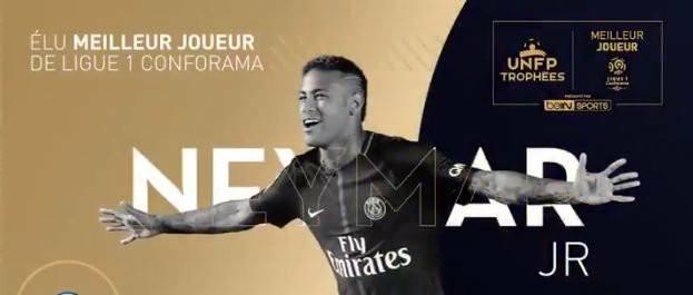 Neymar vince il premio di POTY della Ligue 1