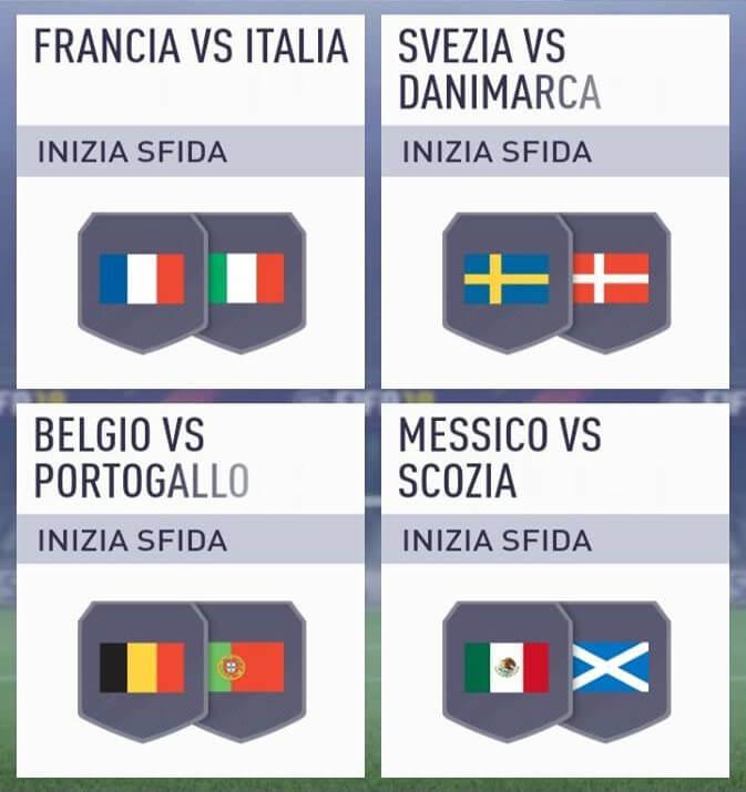 Sfida incontri principali delle nazionali su FIFA 18