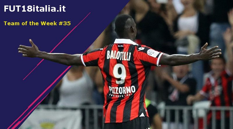 Balotelli 86 nel Team of the Week 35