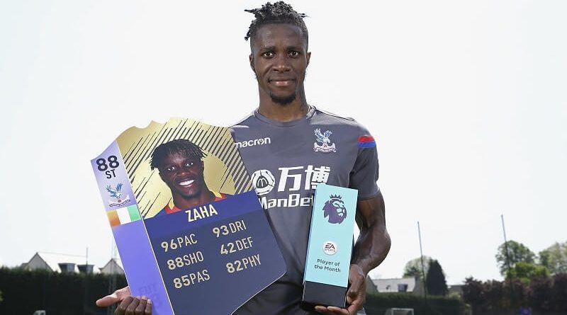 Zaha vince il premio di Giocatore del Mese di aprile in Premier League
