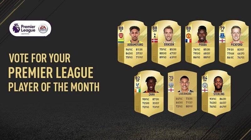 Candidati al premio di Player of the Month ti aprile