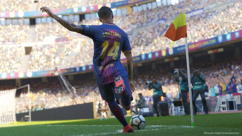 Coutinho mentre batte un calcio d'angolo su PES 2019