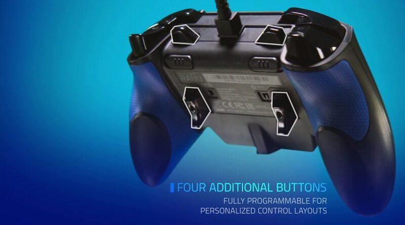 4 pulsanti posteriori configurabili per il controller Razer Raijiu per PS4