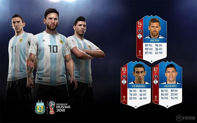 Valutazione dei calciatori dell'Argentina in FUT 18 World Cup