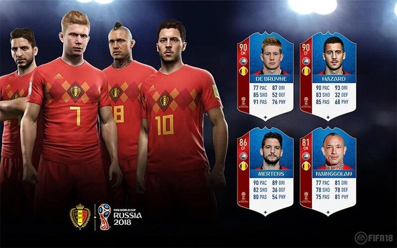 Valutazione dei calciatori del Belgio in FUT 18 World Cup