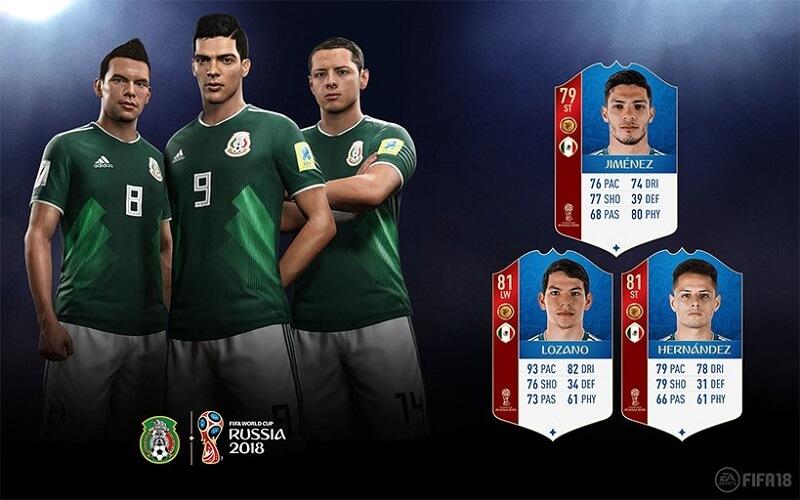 Valutazione dei calciatori del Messico in FUT 18 World Cup