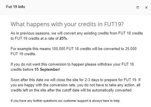 Trasferimento crediti da FIFA 18 a FIFA 19 con FUTgalaxy