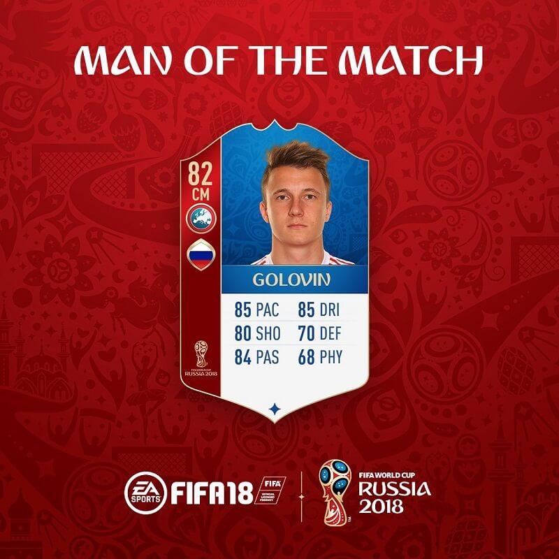 Golovin della Russia, MOTM su FUT World Cup