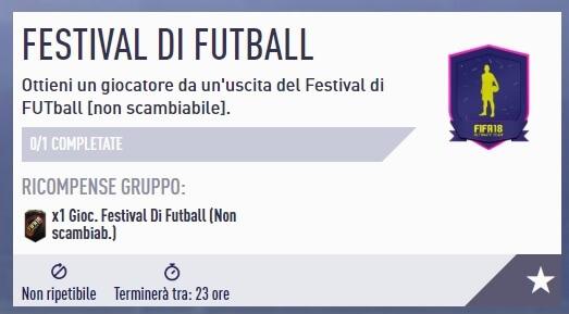 Disponibile la SBC del Festival of FUTball con giocatore del TOTMD garantito non scambiabile