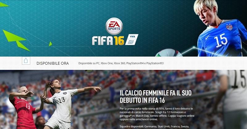 Il calcio femminile in FIFA 16, 12 nazioni giocabili