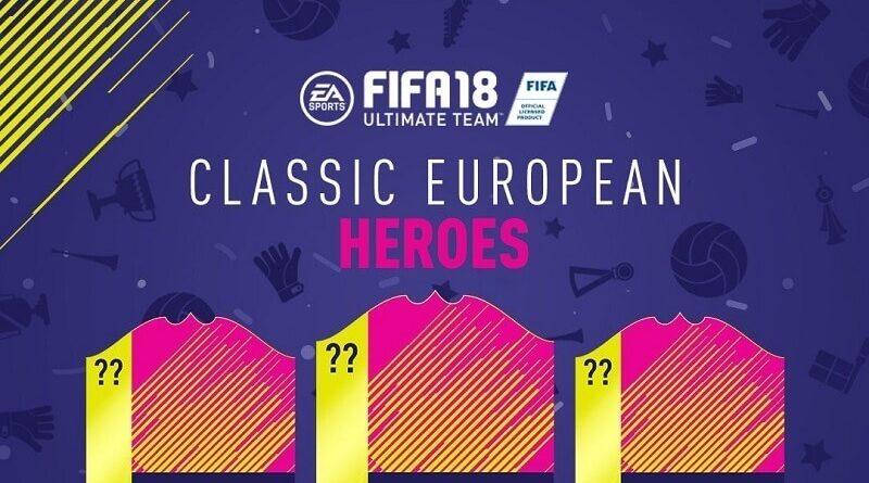 Classic European Heroes da venerdì 22 giugno su FUT 18