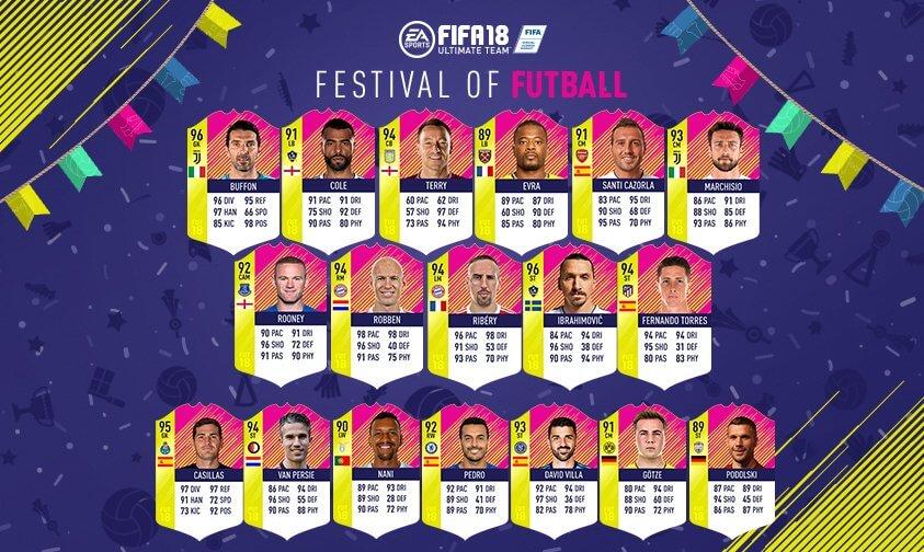 Giocatori del Classic European Heroes disponibili al Festival of FUTball