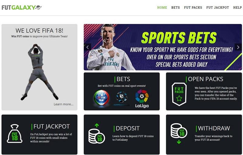 FUTgalaxy sito di betting online utilizzando i crediti di FIFA Ultimate Team
