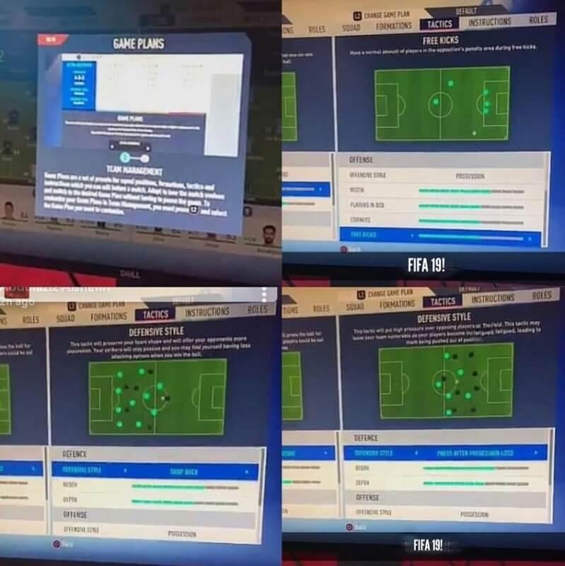 Game plan e le novità delle tattiche personalizzate in FIFA 19