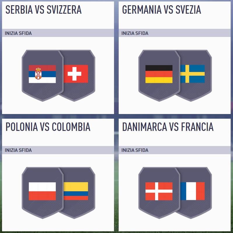 Sfida Incontri Principali del 19 giugno dedicata ai match del Mondiale