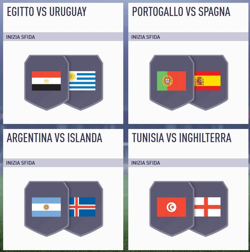 Sfida incontri principali del 12 giugno su FIFA 18