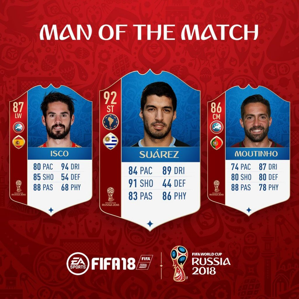 Isco, Suarez e Moutinho MOTO disponibili su FUT World Cup