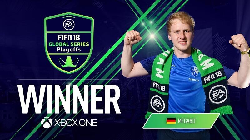 Megabit, il vincitore del torneo XBOX One dei FUT Global Series di Amsterdam