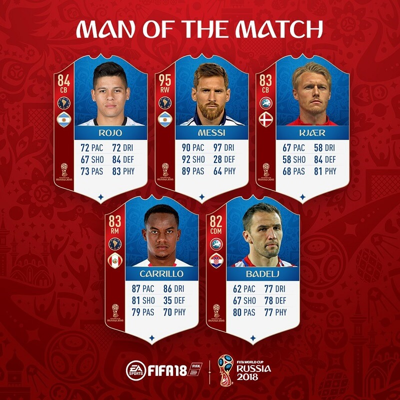 Messi e Rojo, eroi dell'Argentina, disponibili le carte MOTM su FUT World Cup