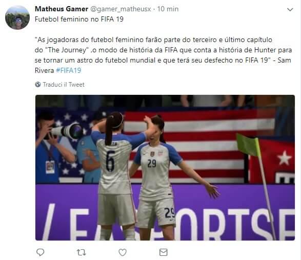 Il calcio femminile incontra Alex Hunter nella modalità il viaggio in FIFA 19