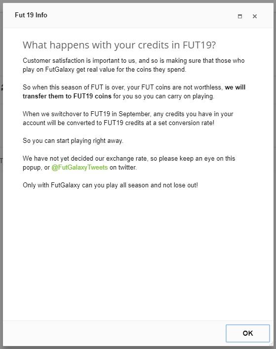 Come passare crediti da FIFA 18 Ultimate Team a FIFA 19 con FUTgalaxy