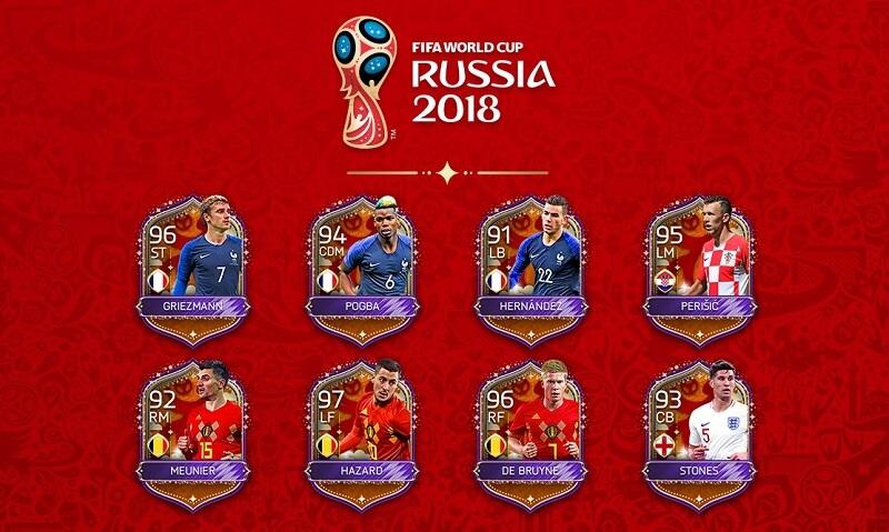 FIFA Mobile World Cup final, i migliori giocatori di Francia, Croazia, Inghilterra e Belgio