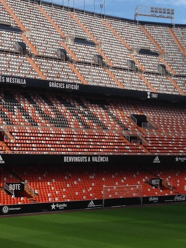 Lo stadio Mestalla di Valencia