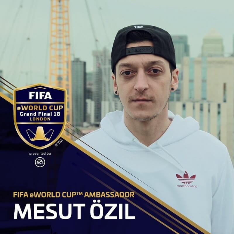 Mesut Ozil, ambasciatore del Mondiale eSports di FIFA 18 Ultimate Team