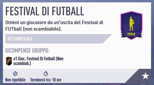 SBC Festival of FUTball garantito non scambiabile
