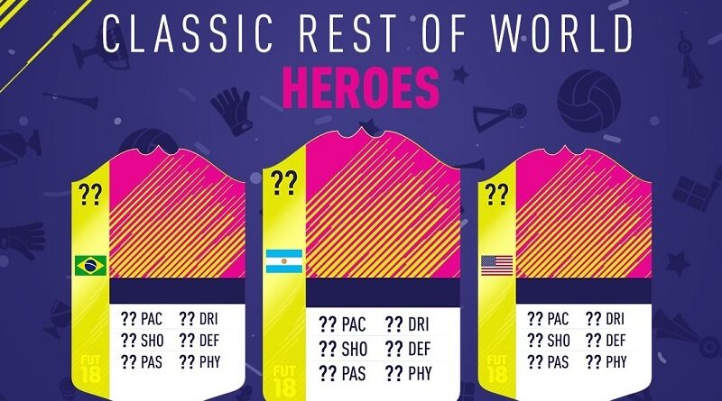 Classic Rest of the World Heroes, i grandi giocatori del Resto del Mondo