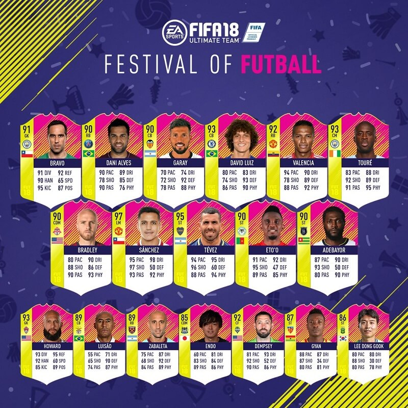 Classic Rest of the World Heroes disponibili su FUT 18