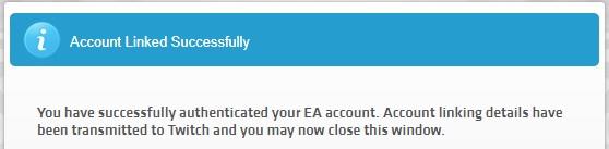 Twitch - EA Sports, collegamento avvenuto con successo