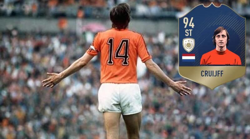 Johan Cruijff, il più grande calciatore olandese di tutti i tempi arriva su FIFA 19 come icona