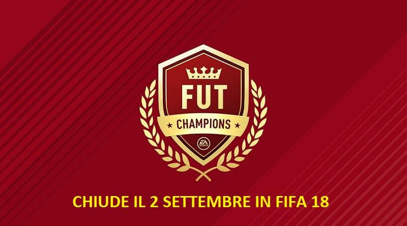 Chiude la FUT Champions Weekend League in FIFA 18 dal 2 settembre