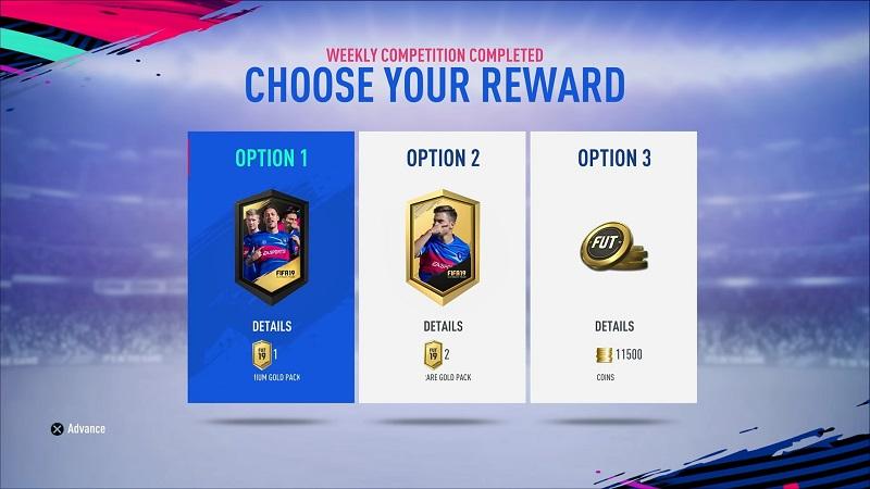 FIFA 19 FUT Division Rivals, è possibile scegliere i premi