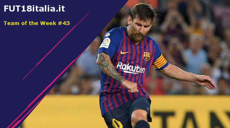 Lionel Messi protagonista nel Team of the Week 43 su FIFA 18
