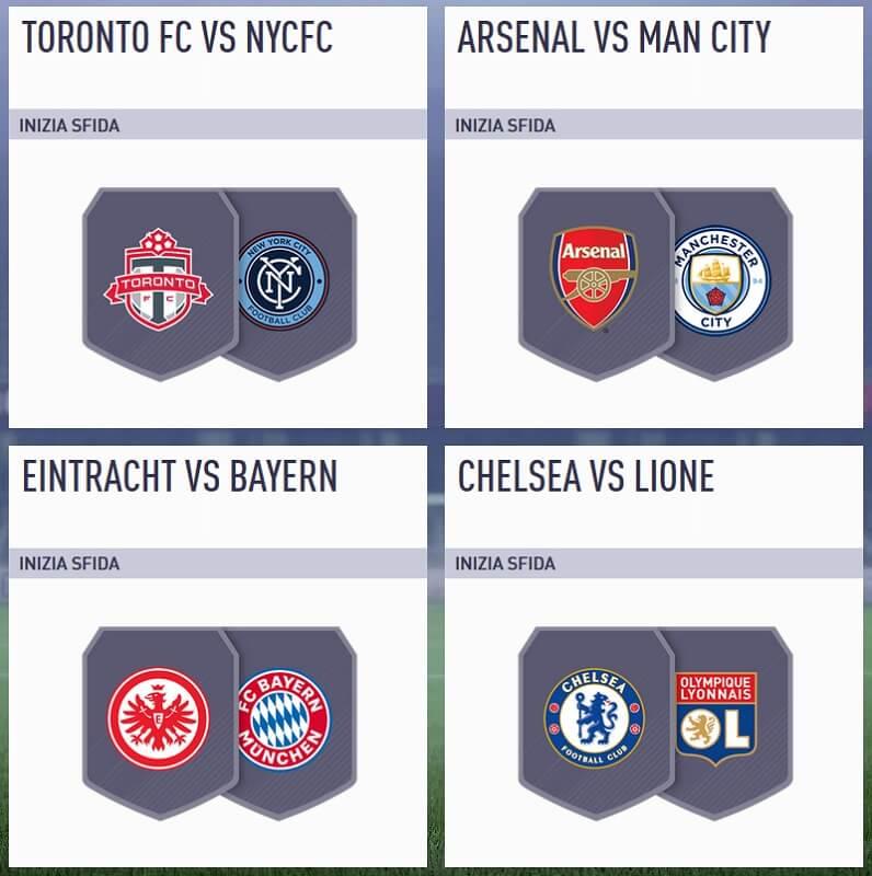 Arsenal Manchester City nella SBC Incontri Principali del 7 agosto