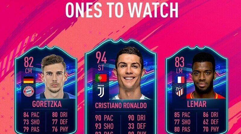 Ones to Watch su FIFA FUT 19, i primi tre giocatori