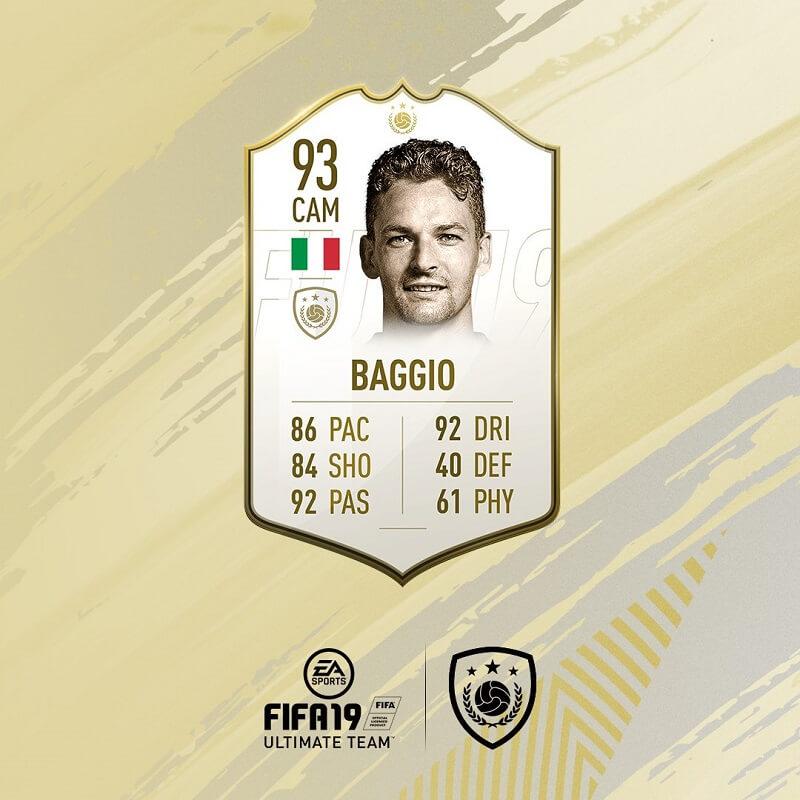 Roberto Baggio icona in arrivo su FIFA 19 Ultimate Team