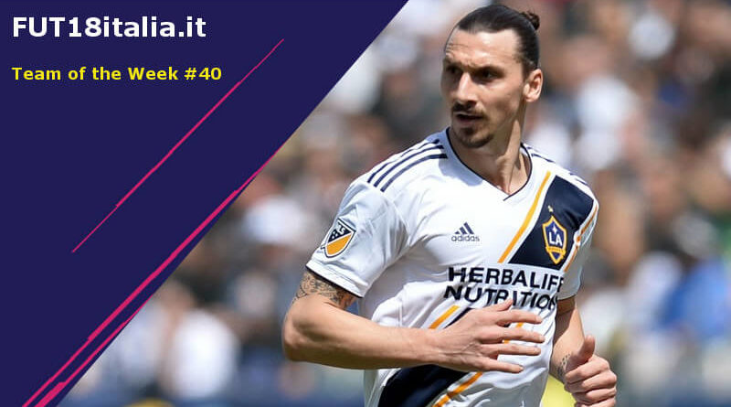 Zlatan Ibrahimovic protagonista nel Team of the Week 40