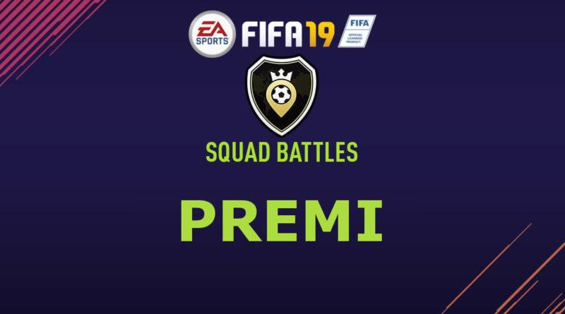 I premi della modalità Squad Battles in FIFA 19