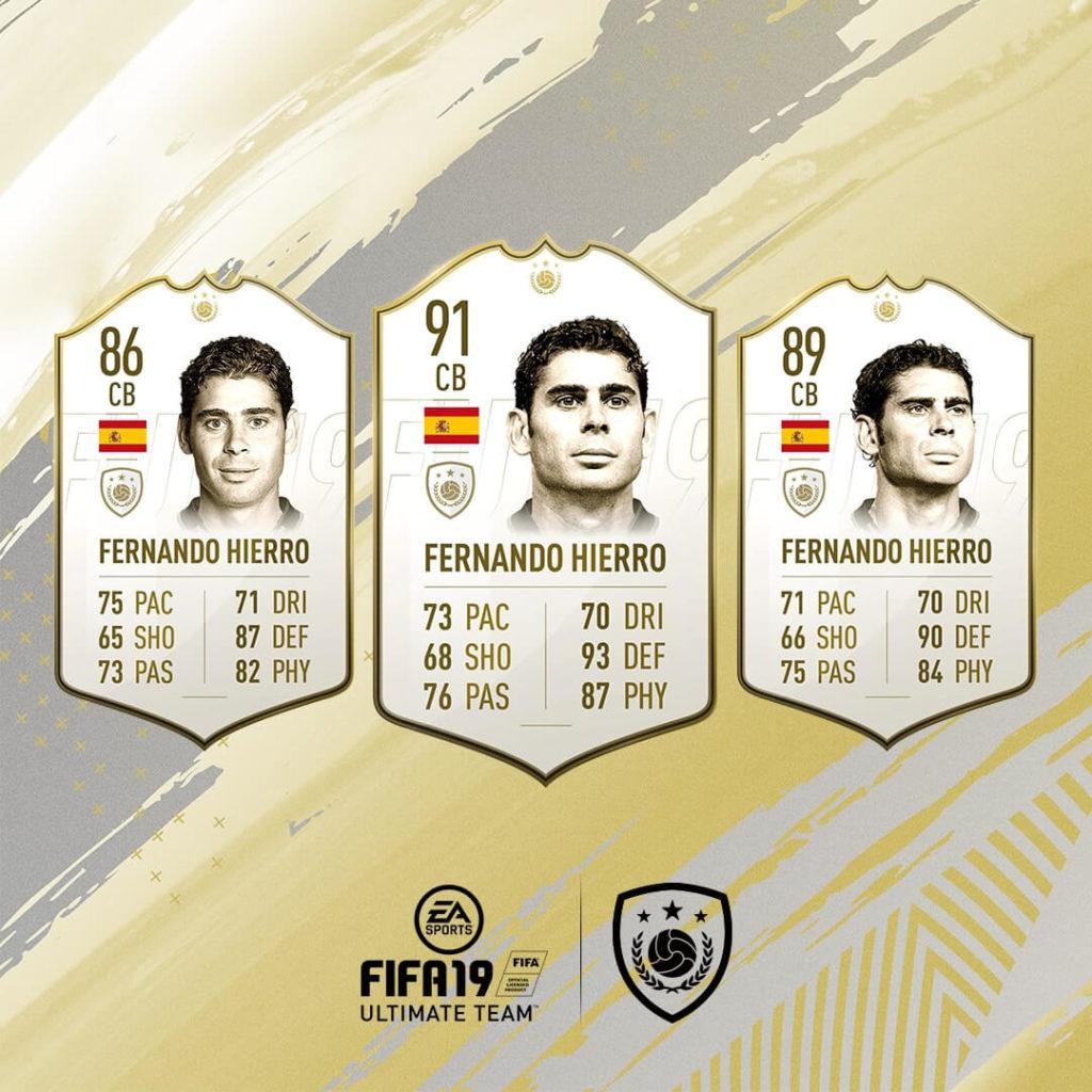 Fernando Hierro icona in FIFA 19 #ClassOf19