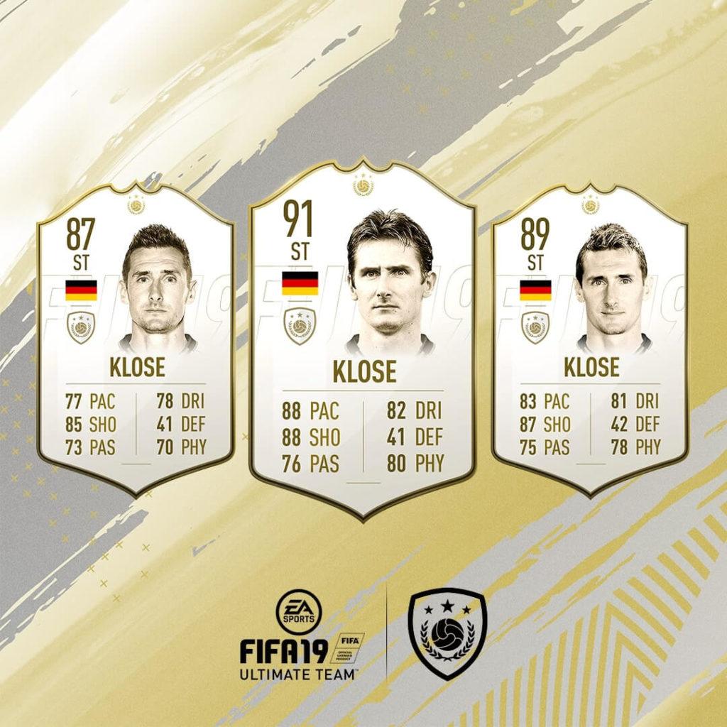 Miroslav Klose icona in FIFA 19 #ClassOf19